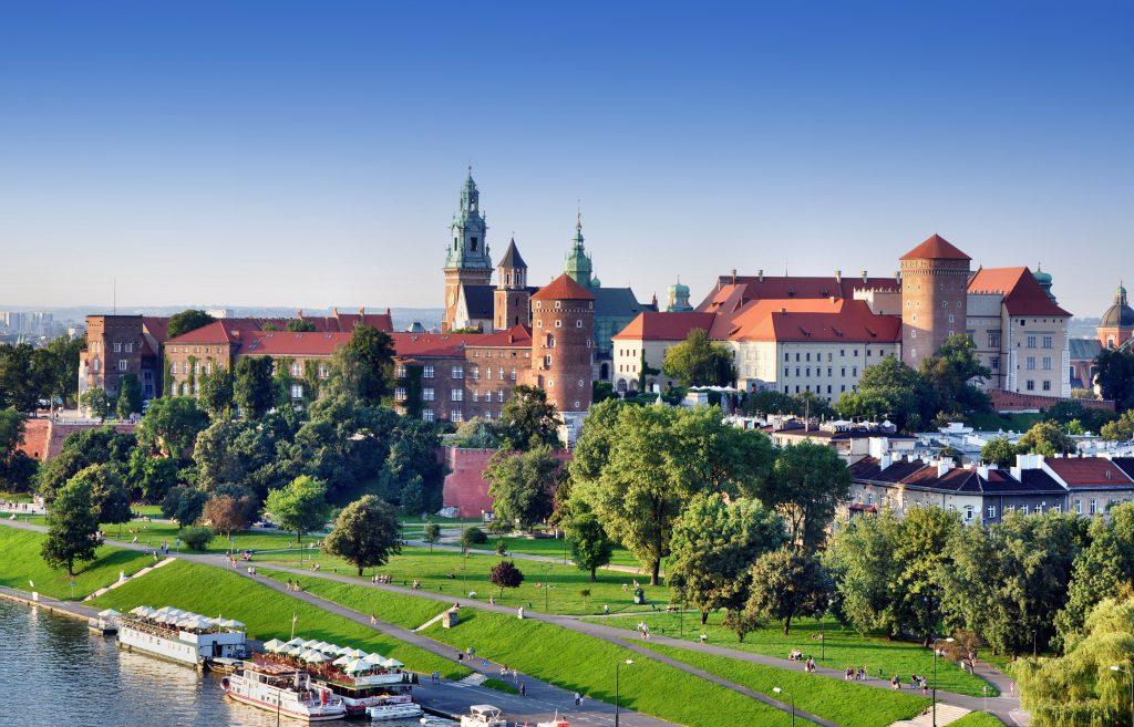 Krakow, Poland. Old city skyline
