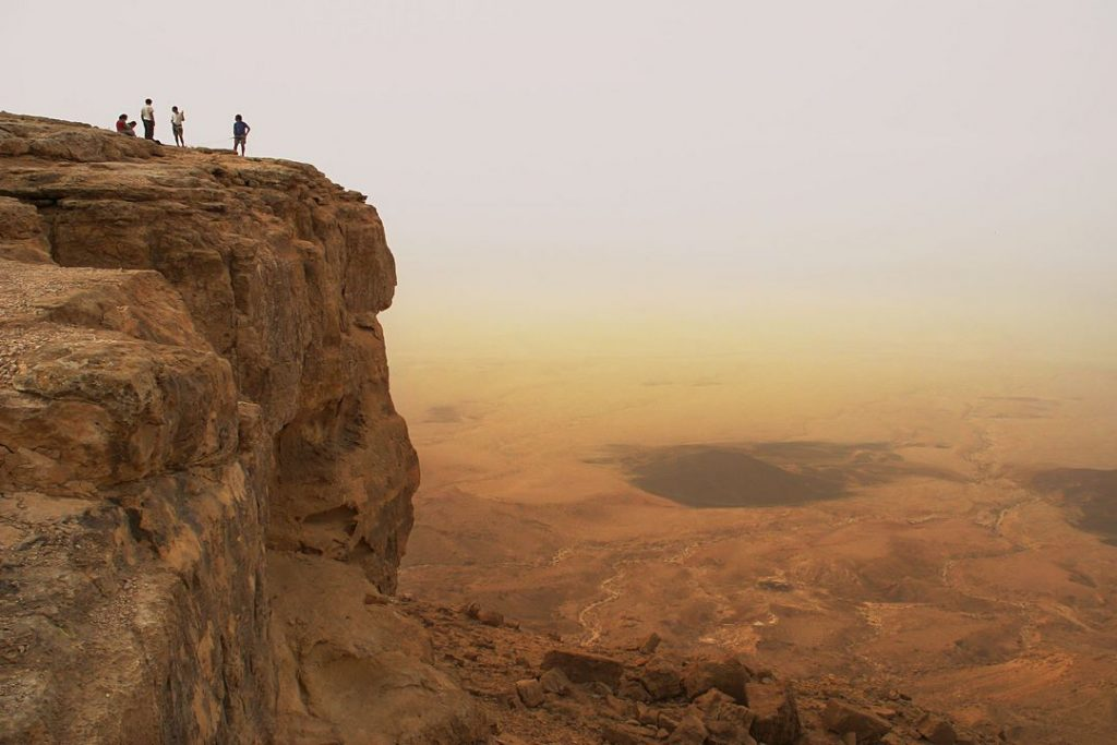 10031737 – cliff over the ramon crater in negev desert in israel.